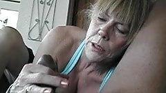 Granny on black cock...