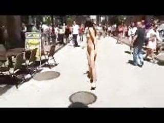 Compilation of pretty girls shooting total naked in public