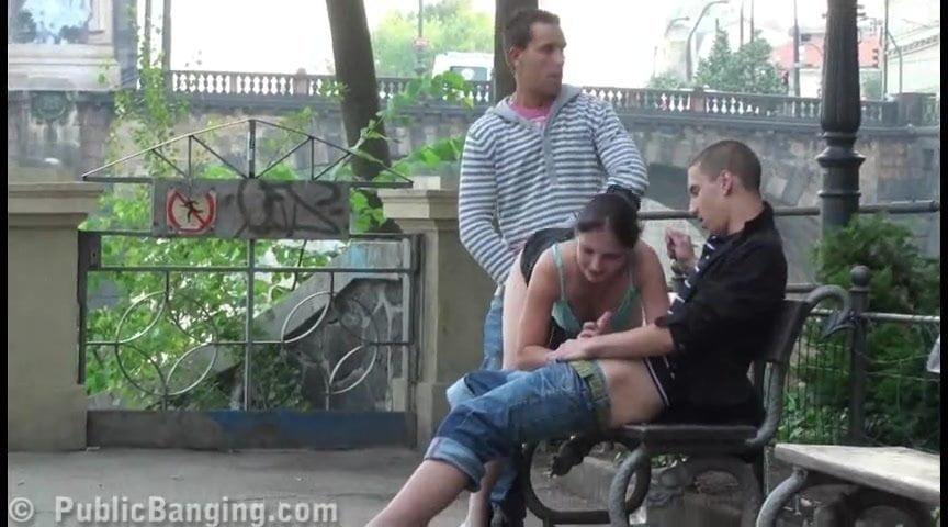Eiffel tower risky public threesome sex awesome-28830
