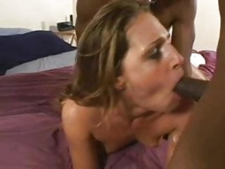 Interracial DP for slim blonde Pornstar