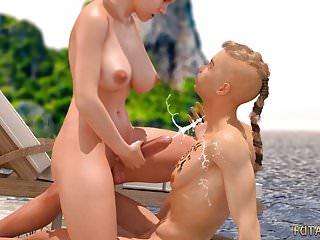 Download video bokep 3D Futa fucks a guy on the beach. Animated 3d porn! Mp4 terbaru