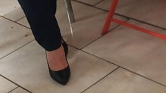 Candid feet and heels at work #7