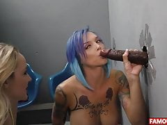 The Famous BBC Glory Hole With Anna Bell Peaks And Iris Rose