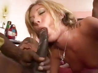 Blonde Exploded In Dp By Black Guys