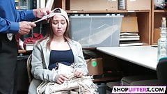 Shoplifting Teen Moves To The Backroom's Thumb