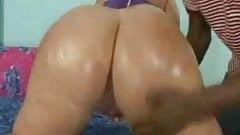 Huge Ass White Girl Fucks Big  Black Cock