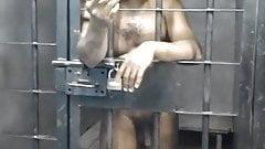 Crazy man in Jail