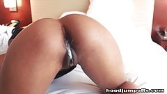 big booty escort gets a bbc deep creampie inside her pussy