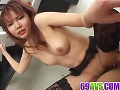 Creampie to end Himena Ebihara crazy sex play