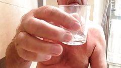 My friend Don wanking his little uncut & drinking his cum