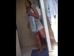 Beurette francaise se douche - hidden shower