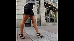 Hot Business Milf Walking in Street