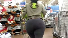 Jiggly Booty Grey Leggings Candid Quickie