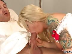 Stunning mature nurse rides her patient's big hard cock