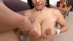 Blackhaired saggy tits smashed.
