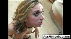 On her knees is Kelly Wells