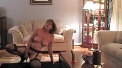 My MILF Exposed Sexy amateur wife in stockings and lingerie
