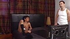 Young Latino gay Alejandro is tickled by two perverts
