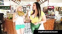 Thick BBW Angelina Castro Fucks Curvy Cristi Ann With A Cock