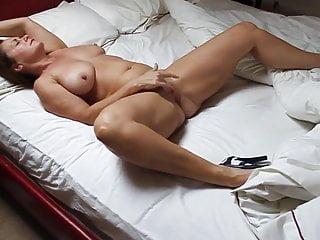 Beautiful Mature Woman Masturbating In Bed