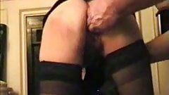 Fisting asshole in stockings