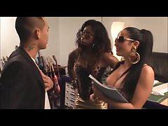 Ebony diva Jasmine share guy with her manager Romana