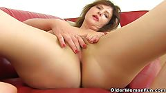 German milf Kristine Von Saar needs to pleasure her cunt