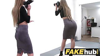 Female Agent English stud cheats and pounds sexy agent