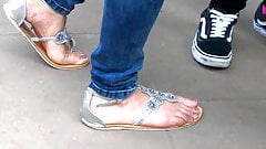 candid feet pose