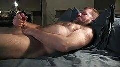 Hairy dad masturbate