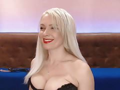 Blonde Woman with Big Tits Anals Tranny