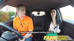 Fake Driving School Male Learner fucking his female examiner