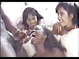 Ebony shares a facial with two friends