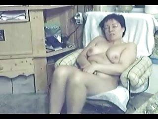 My mum home alone totally naked masturbating