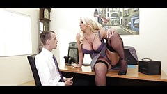 Huge tits boss