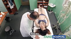 FakeHospital Petite babe takes double cumshot in hospital