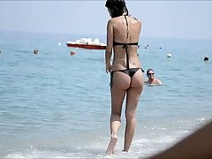 Amazing ass greek babe beach