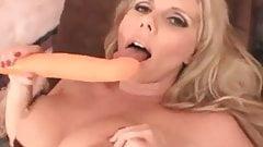 Karen in nylons using a huge sex toy