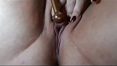 Horny Wife Wet Pussy Contractions with vibrator
