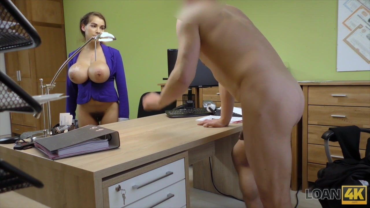 Agent receives blowjob and titjob so gladly helps hot chick