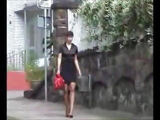 7 Inch High Heels Walking on the Street