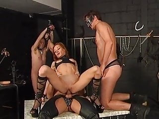 Superb Milf Gets Spitroastd By Her Two Masters
