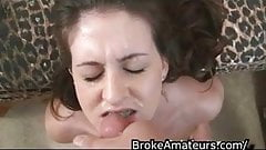 Amateur cums on cock
