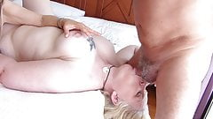 Silver Stallion face fucks Melany