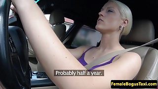Bigtitted cabbie cockriding before cumshot