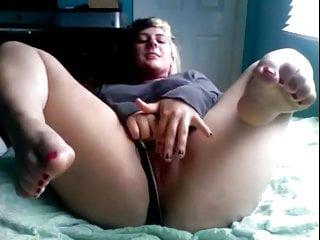 Fat Chubby Teen GF masturbating with nice delicious feet