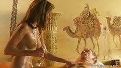 Extraordinary Blonde MILF Massage