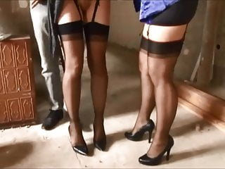 two hot babes talk on one lucky guy