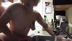 Slut Ex punished for smoking ass fucked does dishes