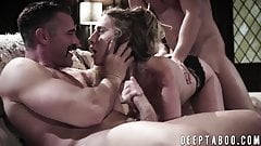 Cadence Lux handles dicks by riding and deepthroating them
